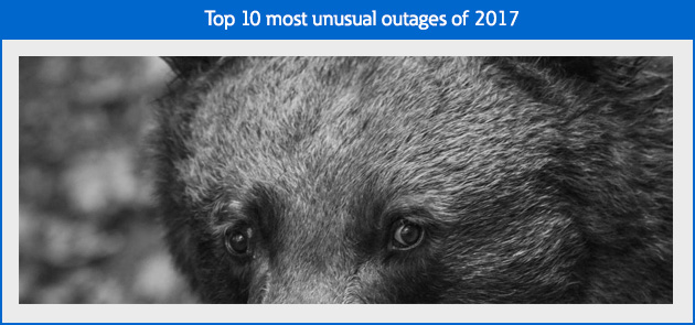 Top 10 most unusual outages of 2017