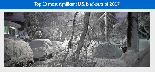 The top 10 most significant U.S. blackouts of 2017