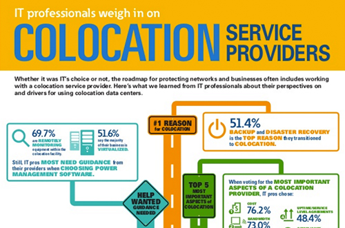 Infographic: IT professionals weigh in on colocation service providers