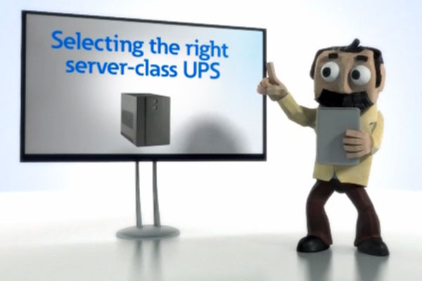 Selecting the Right Class Server UPS. Professor Wattson Video